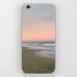 Blue sky fading into pink iPhone Skin