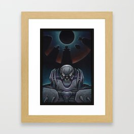 Skull knight_BERSERK Framed Art Print