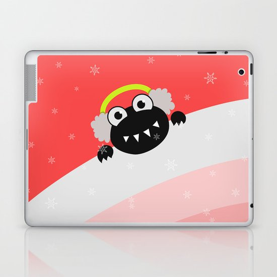 Cute Winter Bug With Earflaps Laptop & iPad Skin