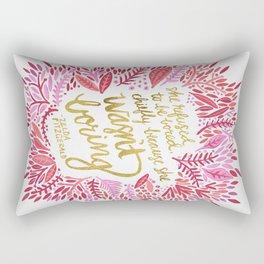 Zelda Fitzgerald – Pink on White Rectangular Pillow
