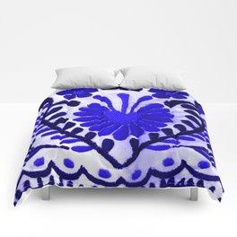 Strange Love Blue Comforters