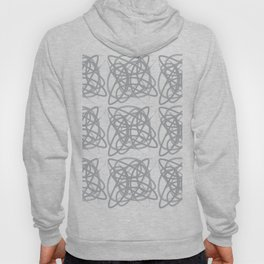 Curvy1Print Grey and White Hoody