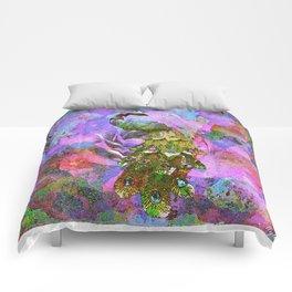 Peacock Watercolor Comforters
