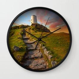 Llanddwyn Tower Anglesey Wall Clock