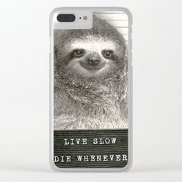 Sloth in a Mugshot Clear iPhone Case