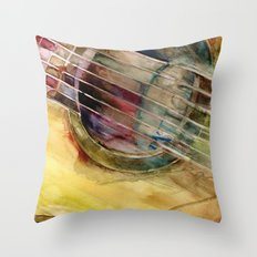 Ovation Acoustic Guitar Throw Pillow