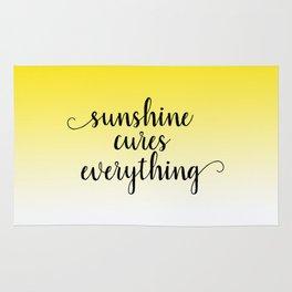 Sunshine Cures Everything Rug