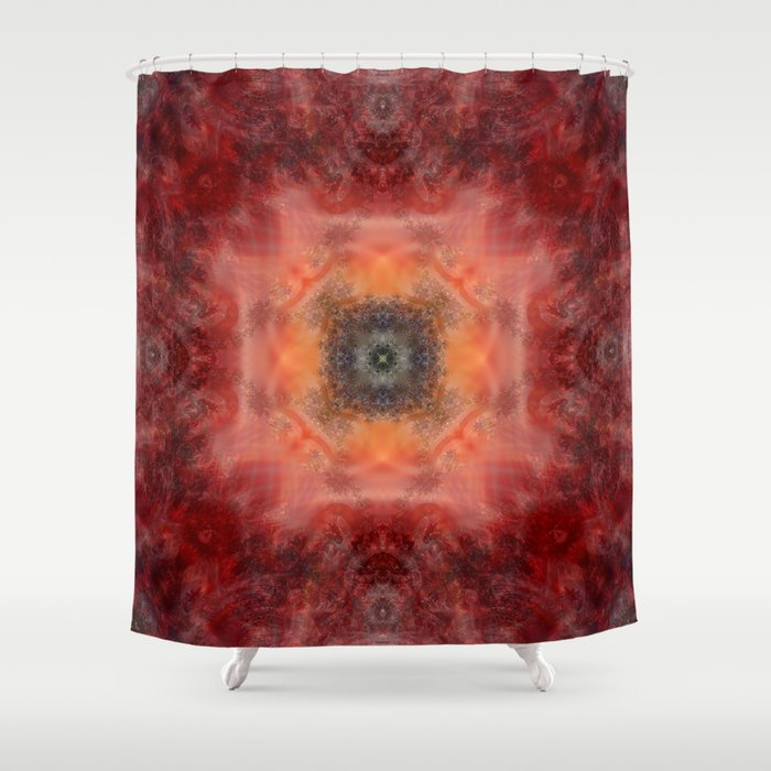 Fractal Fire Shower Curtain