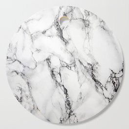 White Faux Marble Texture Cutting Board