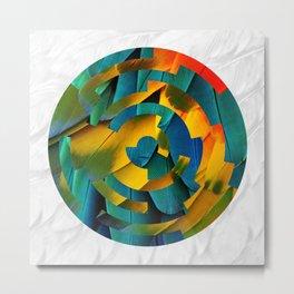Lock1 - Feathers Metal Print