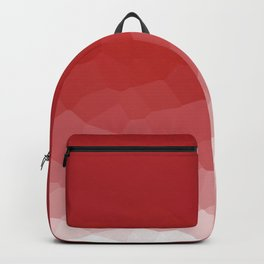 Red To White Abstract Textured Ombre Backpack