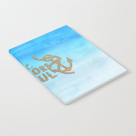 Hope anchors the soul - Typography maritime Notebook