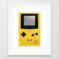 gameboy Framed Art Prints featuring GameBoy by Blending