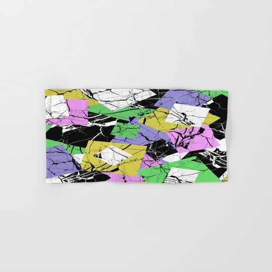 Pastel Marble Tiles Abstract Pattern Hand & Bath Towel