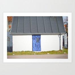 Blue Mölle Door Art Print