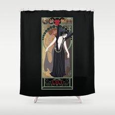 Dark Lili Nouveau - Legend Shower Curtain