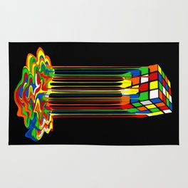 Rainbow Abstraction melted rubix cube iPhone 4 5 6 7 8, pillow case, mugs and tshirt Rug