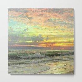 Coastal Newport, Rhode Island Landscape Painting by William Trost Richards Metal Print