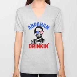 Abraham Drinkin' Unisex V-Neck