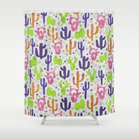 succulents Shower Curtains featuring Succulents by 83 Oranges™