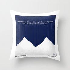 No158 My SCARFACE minimal movie poster Throw Pillow