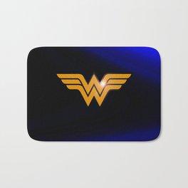 WonderWoman emblem insígnia Wonder Gold, Diana Prince, warrior princess of the Amazons Bath Mat
