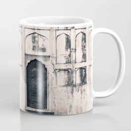 Mughal Indian Black and White Architecture in Red Fort, New Delhi Coffee Mug
