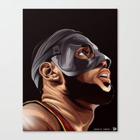 lebron Canvas Prints featuring THE KING by THEMAD3