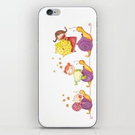 Babies in a snails iPhone Skin