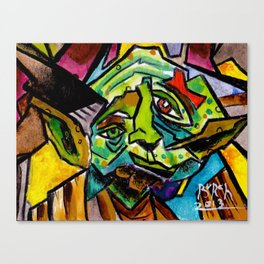 Yoda Abstract I AM Canvas Print