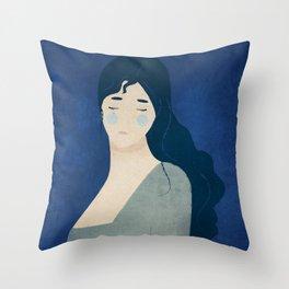 My tears are blue Throw Pillow
