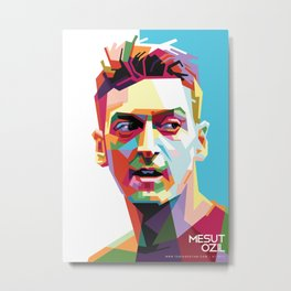Mesut Ozil WPAP 2 Metal Print