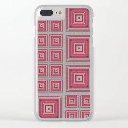 """Grandma's pink blanket"" Clear iPhone Case"