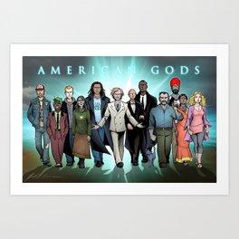 American Gods Art Print