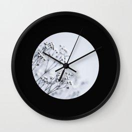 Silver Kiss III Wall Clock
