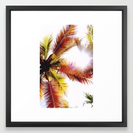 PALM TREES 2 Framed Art Print