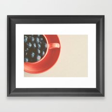 blueberries as big as your thumb ... Framed Art Print