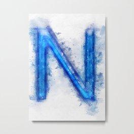 N Letter Metal Print