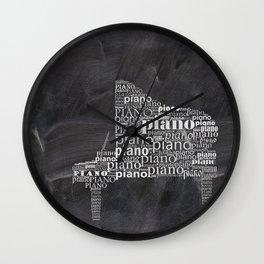 Piano on chalkboard Wall Clock