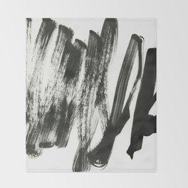 black on white 2 Throw Blanket