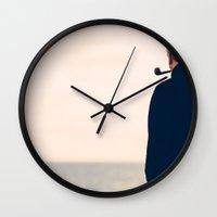 tintin Wall Clocks featuring Captain Haddock by Simon Laroche