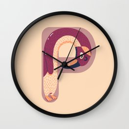 P for Penguin Wall Clock