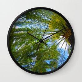 Dreamy Palms of Hawaii Wall Clock