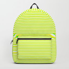 Banana and Lime Yellow and Green Stripes Backpack
