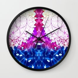 Flower of Life - Fractal Image Wall Clock