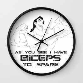 Biceps to Spare Wall Clock
