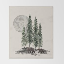 Full Moon Rising Throw Blanket
