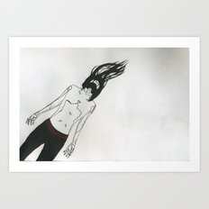Drifting Man Art Print