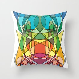 Abstract Curves #4 - Butter Fly Throw Pillow