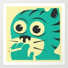 SMOKING CAT Art Print